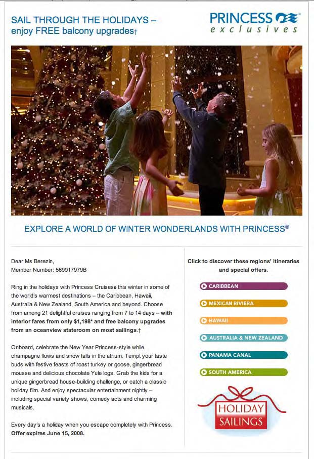 holidayemailprincesscruises