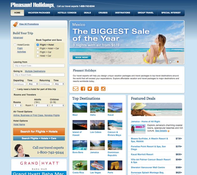 Pleasant Holidays Website LBerezin