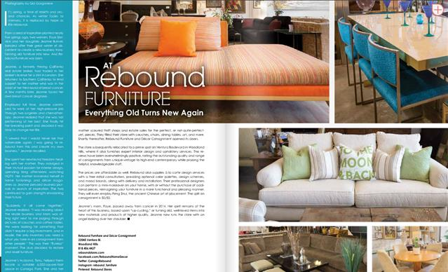 Rebound Furniture Article