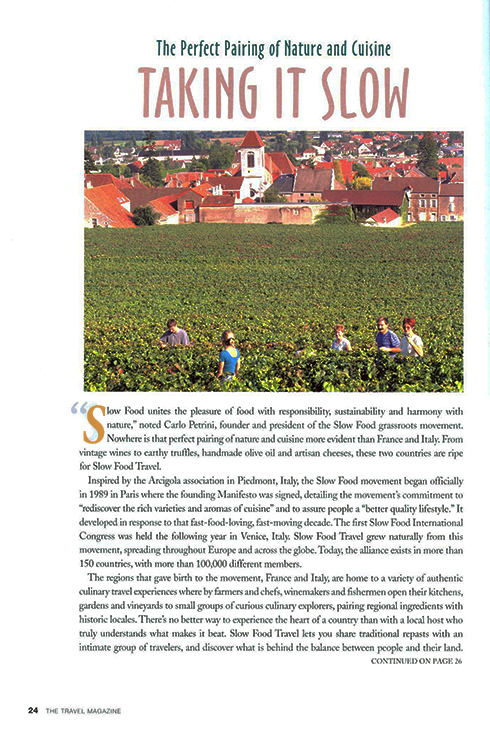 Slow Food Travel Article