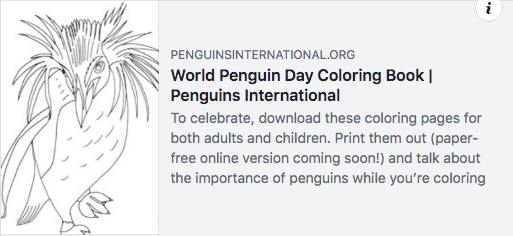 World Penguin Day Coloring Book
